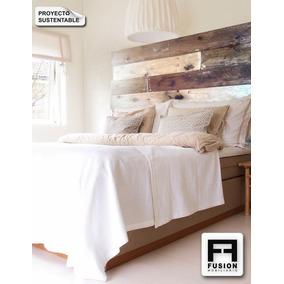 Respaldo madera reciclada respaldos en camas y respaldos - Cabecera de cama reciclada ...