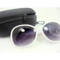 Óculos De Sol Feminino Oval Degradê Barato Com Case Uv 400