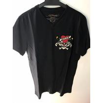 Camiseta Tshirt Ed Hardy Masculina Christian Audigier Black