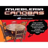 Juego De Comedor ( Mesa + 6 Sillas + 6 Almohadones )