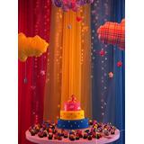 Cortina Para Decoração De Festas Infantis - 2m X 12m
