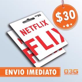Cartão Presente Pré-pago Netflix Assinatura R$ 30 - Imediato