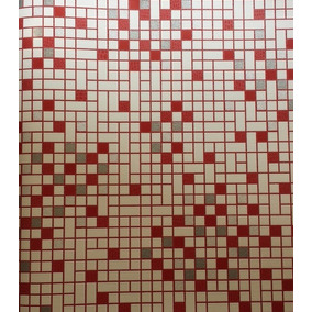 Papel Tapiz Imitación Mosaico Veneciano, Con Relieve