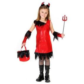 oferta disfraz de diablo diabla diablita para nias talla