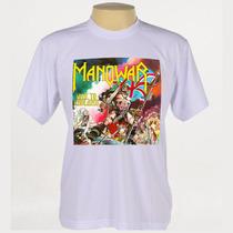 Camiseta Rock - Manowar, Guns N Roses, Ozzy Osbourne
