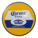 Placa Mdf Corte A Laser Alto Relevo Cerveja Corona 39x39cm