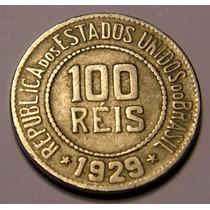 Moeda 100 Réis 1929,velha Republica, Cupro Niquel, Oferta