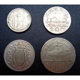 Lote De 4 Moeda Da Série Brasileiros Ilustres Ano 1936 Mbc