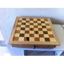 Conjunto Para Xadrez Em Madeira Nobre