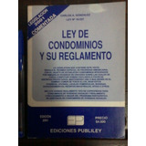 Ley De Condominios Y Su Reglamento - Edición 2001