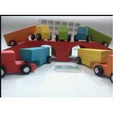 Camion Con Acoplado Madera Material Didactico
