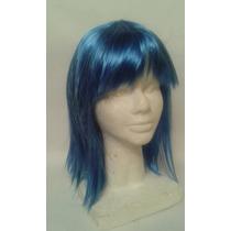 Peluca Azul Para Disfraces Cosplay