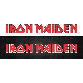 Adesivo Rock Iron Maiden Vintage 20x2,5cm