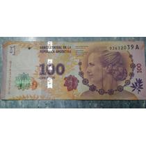 Billete Evita De $100 Primer Emisiòn Serie A