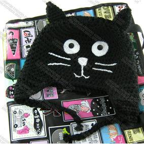 Gorras Tejidas De Gato Estambre Crochet Para Adulto Y Bebé