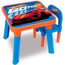 Mesa E Cadeira Hot Wheels - Fun Diversão