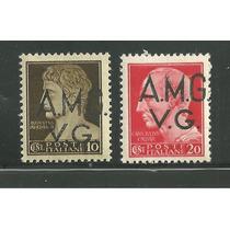 Italia 1945 Amg (gobierno Militar Aliado) Sobreimp Op4