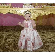 Vinf 1107 - Vestido Infantil Em Renda - Várias Cores