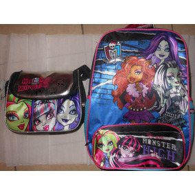 Mochila Backpack Escolar Y Lonchera Monster High Ruz
