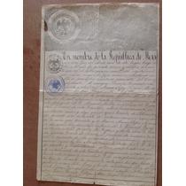 Documento Antiguo. Acta Nacimiento 1887