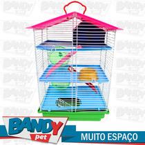 Gaiola Para Hamster 03 Andares Com Teto Plástico