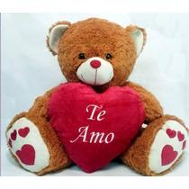 Oso De Peluche Grande 50cm Con Corazón + Chocolates, Env Int