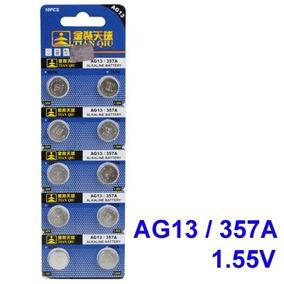 Paquete 100 Pilas Alcalinas Ag13 Lr44 357 Reloj Juguete