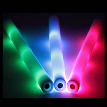 10 Tira Barra De Espuma C/luz Led Multicolor Fiestas Eventos