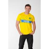 Camiseta Brasil Zone Amarela Masculina Braziline - Copa 2014