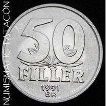 Moneda De Hungria 50 Filler 1991 - Sin Circular