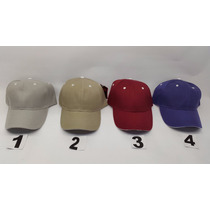 Gorra Acrilica Unicolor Tipo Sandwich Jagi Mayor 6pz