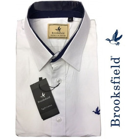 Camisa Social Brooksfield (pontinhos) Branca + Frete Br