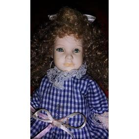 Boneca De Porcelana Menina 22 Cm