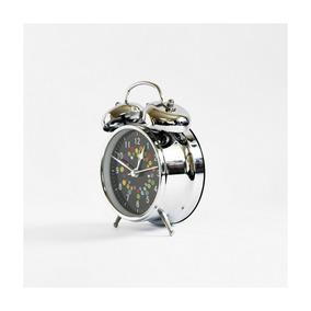 Reloj Despertador Morph Dots Metal Plateado
