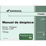 Libro De Despiece Moto Honda Shadow Vt 600 Catalogo Piezas