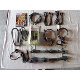 Kit 14 Peças Acessórios Xbox 360 - Cabos, Headfone, Jogo