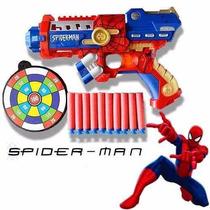Arma Brinquedo Pistola Nerf Atira Dardo Spider Man Avenge