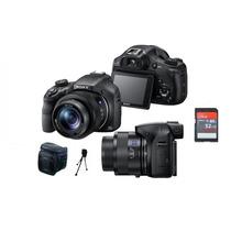 Câmera Sony Hx400 Hx400v +32gb/cl10,bolsa+tripé+kit Limpeza