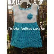 Vestido Hilo Tejido A Crochet Talla 2 - 3 Años