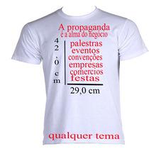 5 Camisetas Personalizadas! Logo Para Empresa Frente/verso