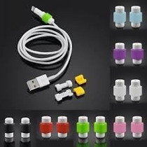 1 Par Protectores Para Cable Usb De Iphone, Ipad, Ipod.