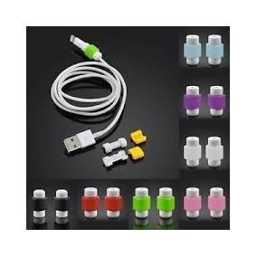 15 Pares Protectores Para Cable Usb De Iphone, Ipad, Ipod.