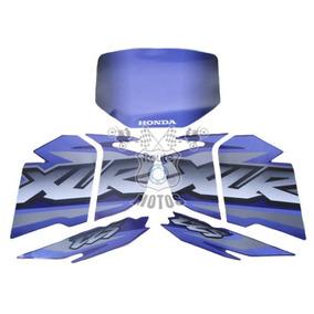 Jogo Adesivos Faixa Completa Xlr 125 2002 Azul