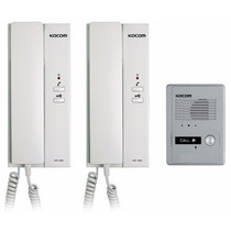Intercomunicador Kocom Con 2 Auriculares Kdp-601am + Ds-2d