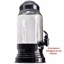 Suqueira Jarra 3 L De Vidro C/base Alumínio Porta Suco