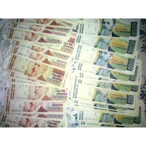 Lote De 10 Billetes De 50 Y 100 Mil Australes
