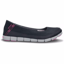 Crocs Panchas Stretch Sole Flat W Mujer Negro Original
