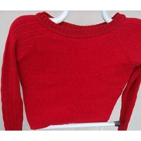 Blusal Feminina Em Linha Tricotada Vermelha M