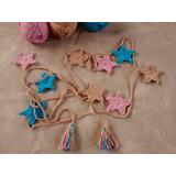 Guirnalda Estrellas Tejido Crochet Decoración