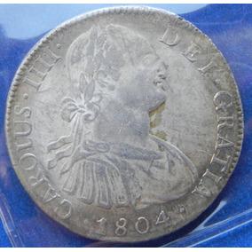 Moneda Mex 8 R Carlos 4 1804 Plata Excelente Alta Gama S/c